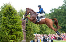 Colleen Rutledge and Shiraz at Burghley – photo by Calina